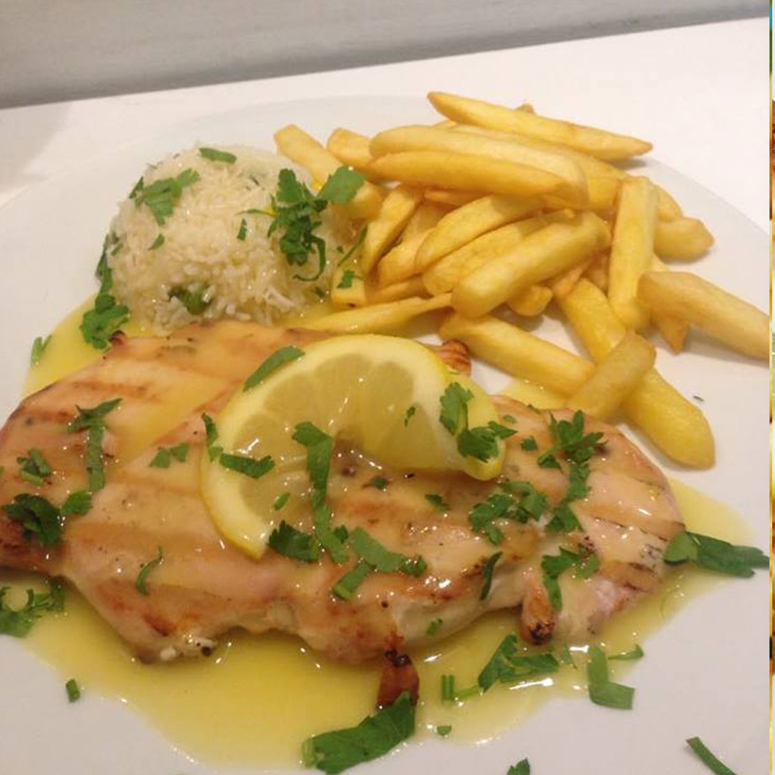 chicken fillet in lemon sauce